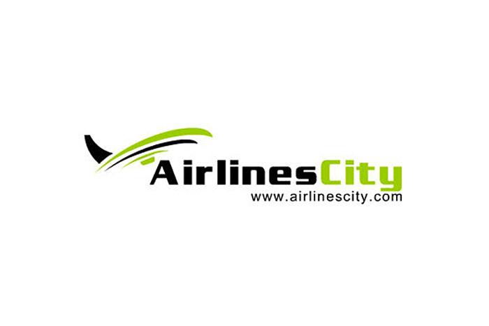 projekt logo - AirlinesCity - logo dla firmy turystycznej