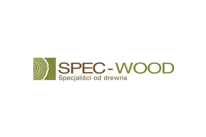 projekt logo SPEC-WOOD - dla firmy z branży obróbki drewna logo dla tartaku