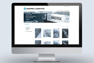 Strona internetowa MEARSK