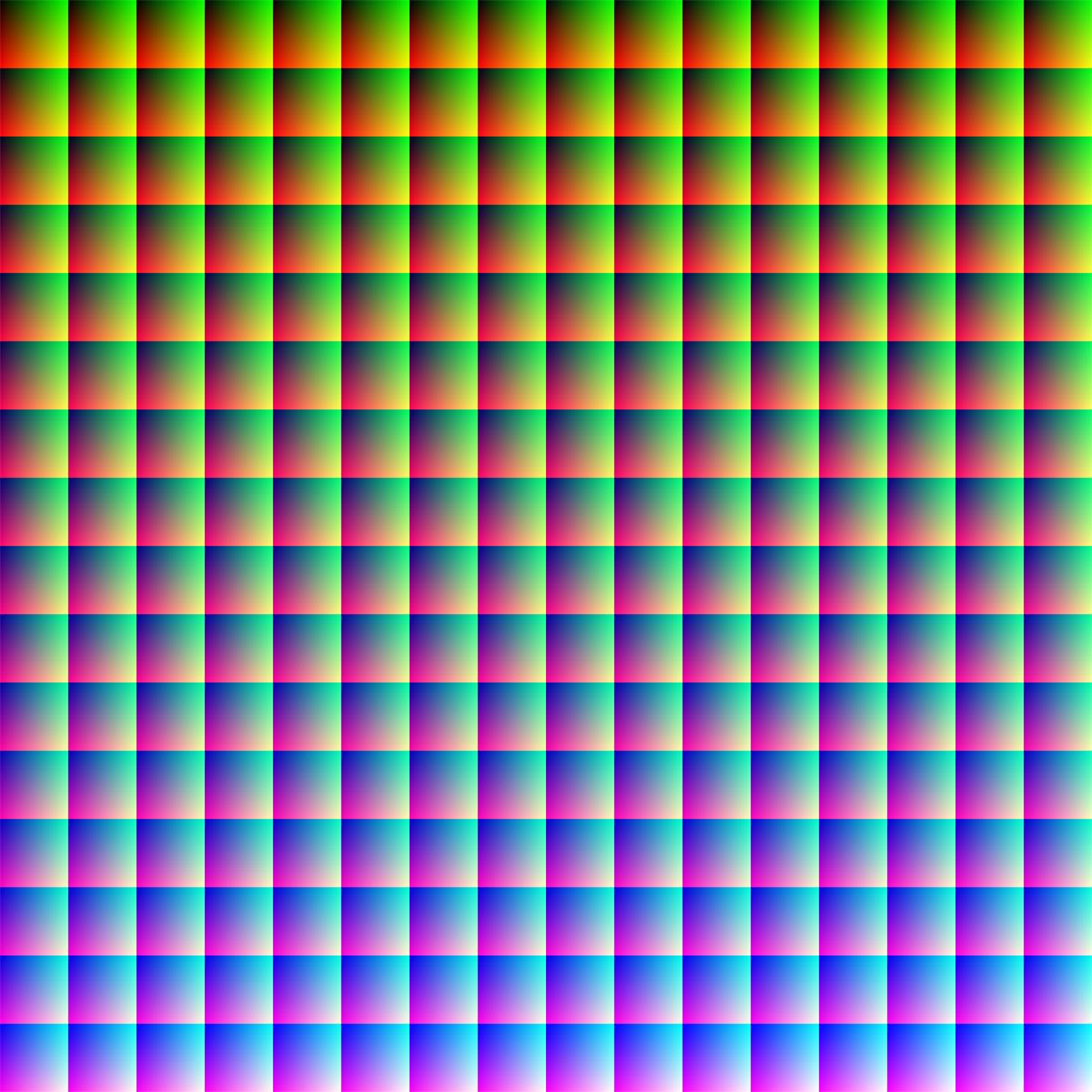 Wszystkie kolory RGB
