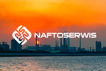 Naftoserwis – logo dla firmy chemicznej / tworzenie logo