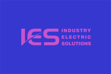 IES – logo dla firmy z branży elektronicznej