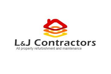 L&J Contractors – logo dla firmy budowlanej/remontowej