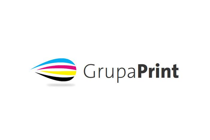 logo Grupaprint - projekt logo dla drukarni