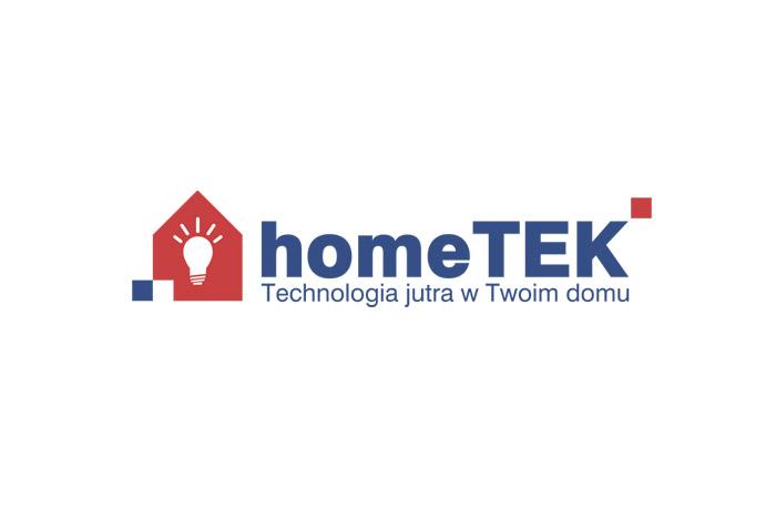 HomeTek - logo dla firmy tworzącej inteligentne systemy dla domu