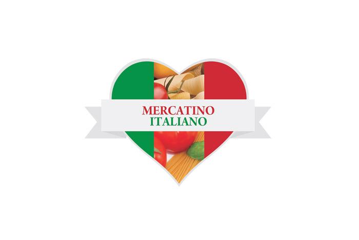 MERCATINO projekt logo dla Włoskiej restauracji