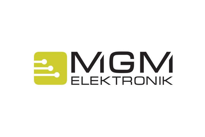 Logo dla firmy z branży elektrycznej MGM Elektronik