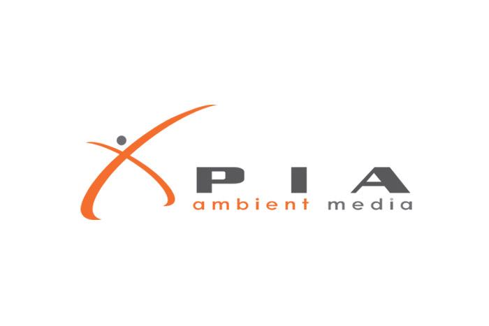 projekt logo - PIA Ambient Media. Logo dla firmy reklamowej / marketingowej