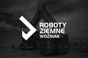 Projekt logo ROBOTY ZIEMNE WOŹNIAK – logo dla firmy budowlanej