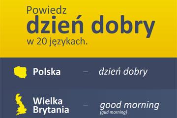 """Powiedz """"dzień dobry"""" w 20 językach – infografika"""