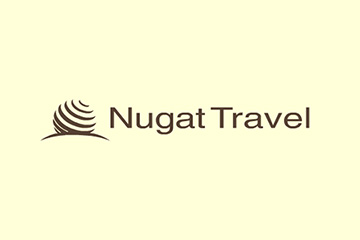 Nugat Travel – logo dla biura podróży, firmy turystycznej