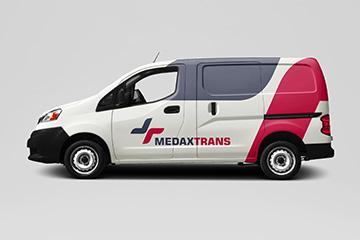 MEDAXTRANS – logo dla firmy transportowej