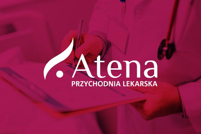 Logo dla przychodni Atena