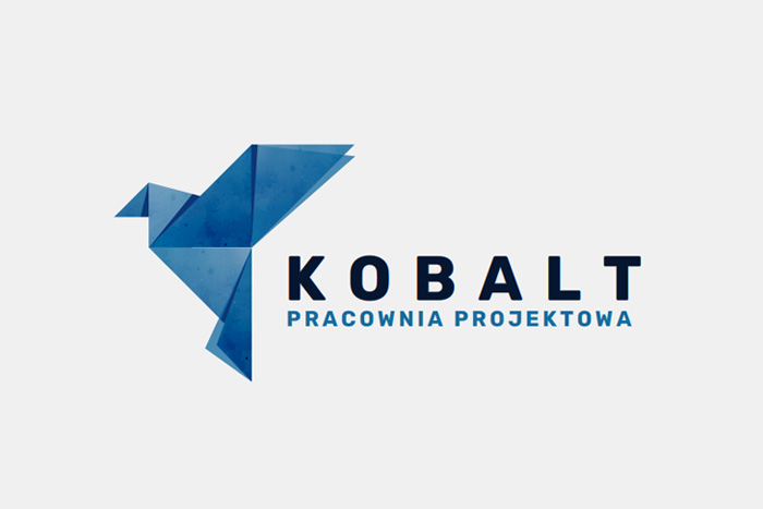 logo dla pracowni projektowej KOBALT. Projektowanie logo