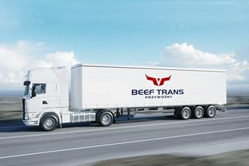 BEEF TRANS Logo dla firmy transportowej