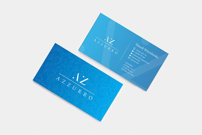 azzurro wizytówka