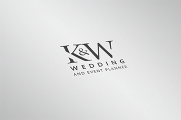 K&W WEDDING AND EVENT PLANNER – projekt logotypu