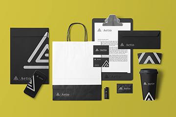 Aetio – identyfikacja wizualna
