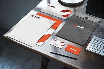 MAF MEBLE – logo oraz identyfikacji wizualnej dla producenta mebli