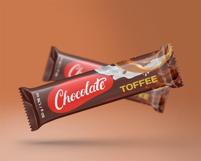 projekt opakowania toffee