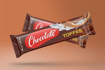Projekt opakowania – baton toffee