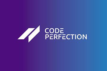logo dla firmy programistycznej CODE PERFECTION